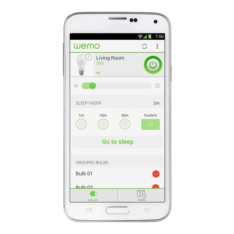 WeMo LED Lighting Starter Set Mobile App