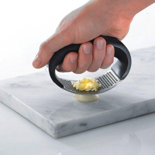 Stainless Steel Rocking Garlic Press for Mincing Garlic