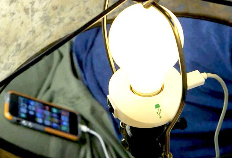 LampChamp USB Lamp Socket Charger