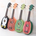 Cute Pineapple Shape Handmade Ukuleles