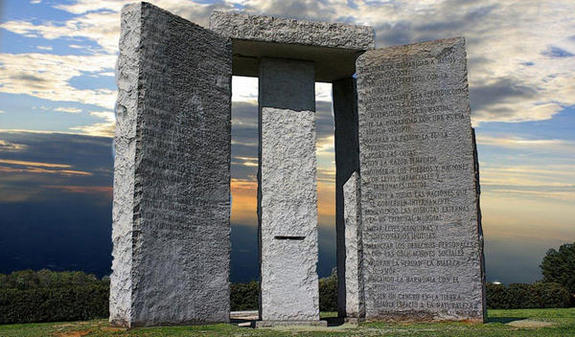 The Georgia Guidestones Cube - August 14, 2016 - Tisha B'Av