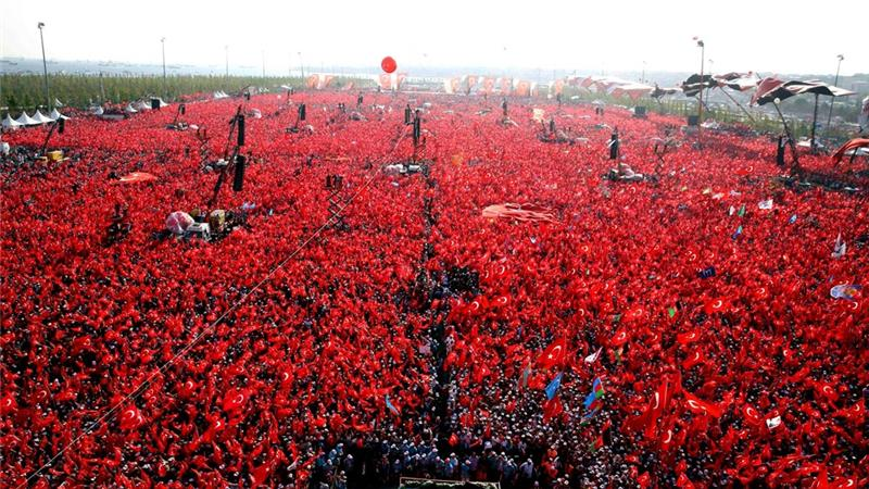 democracy martyrs rally turkey