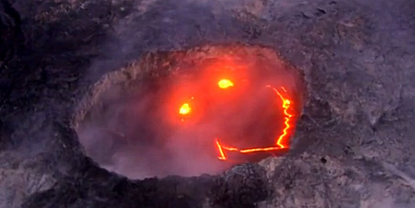 volcano smiley