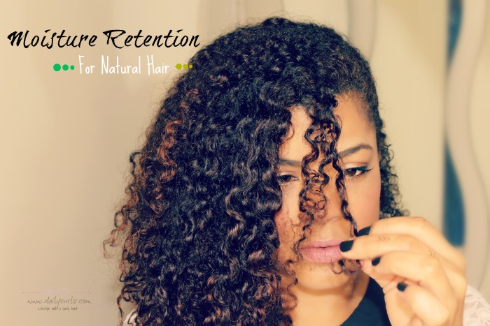 Moisture retention for natural hair
