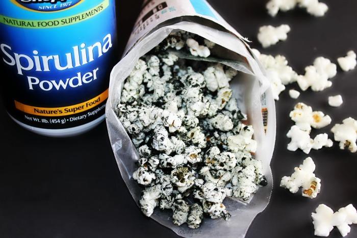 palomitas de espirulina saludable