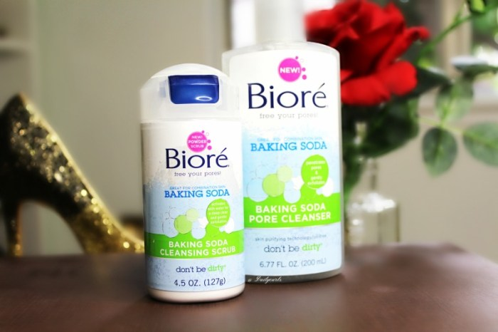 new bioré baking soda cleansing scrub