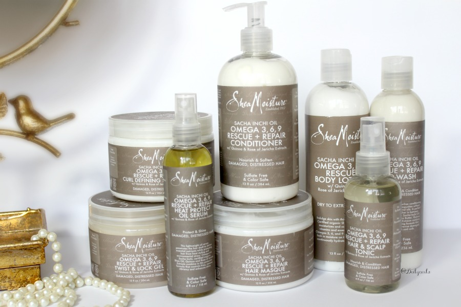 New Sheamoisture Sasha Inchi oil and Omega 3,6,9 product line