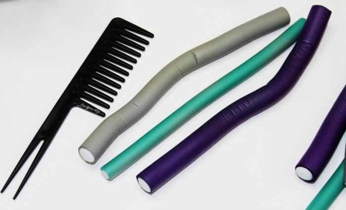 como-hacer-flexirods-en-el-cabello-natural