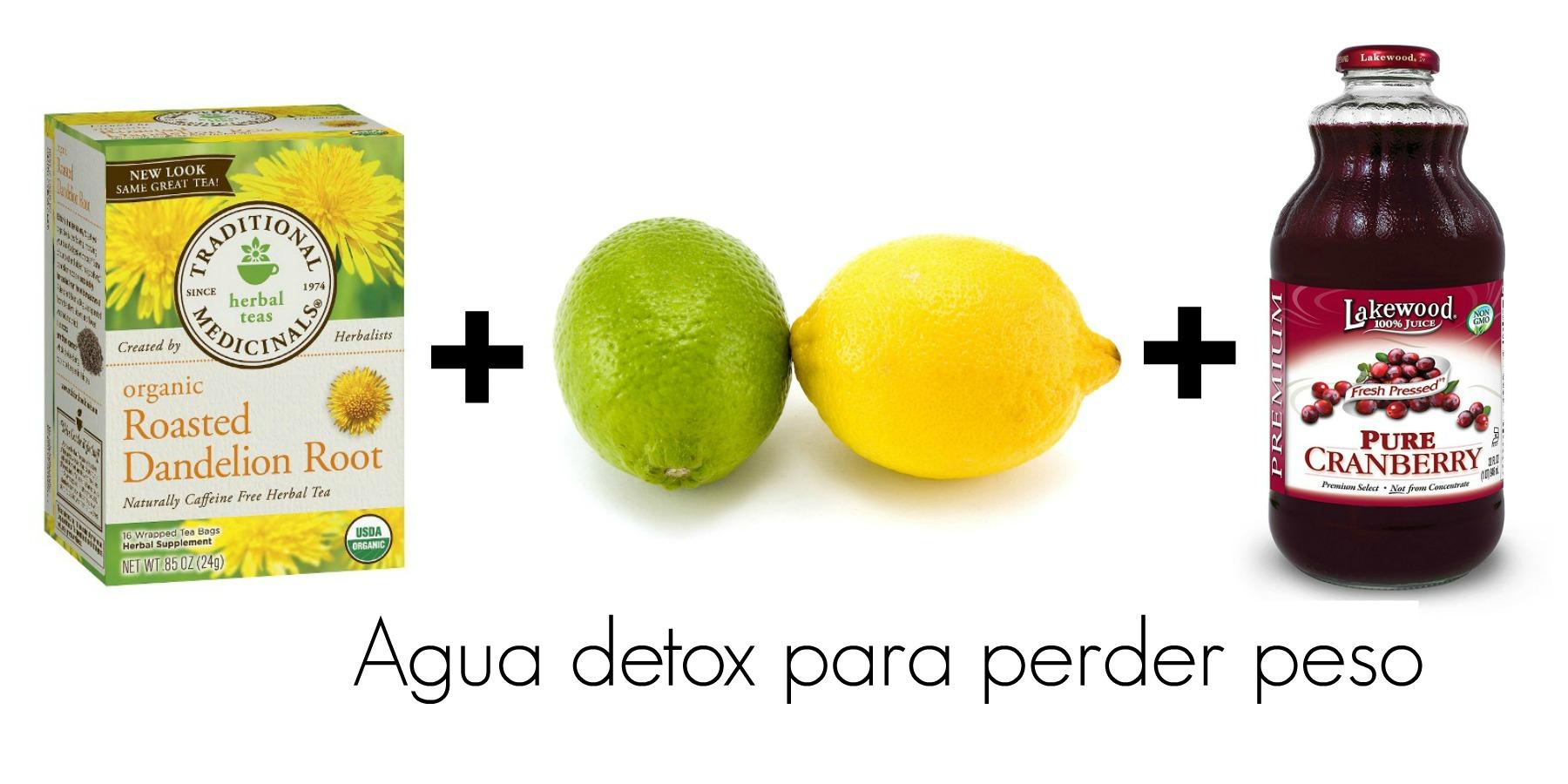 Aguas detox para bajar de peso