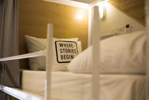 Bed One Block Hostel Design - where stories begin