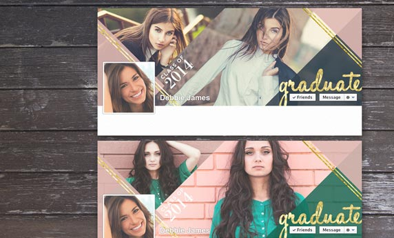 Senior Graduation Facebook Timeline Cover Gold Foil With A Modern Twist