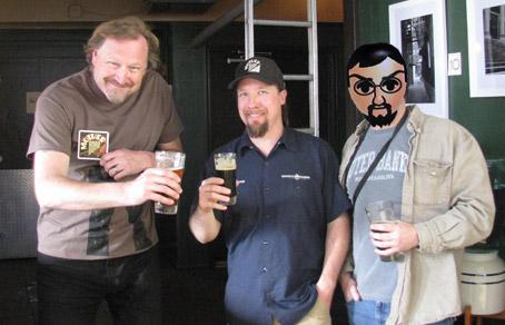Alex Bone, Mick Zano, and Casey Carhart of Deschutes Brewery