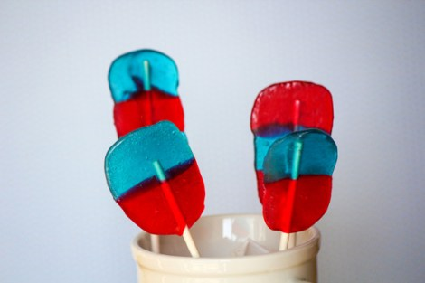 Fourth of July Lollipops - Quick and Easy - Jolly Rancher