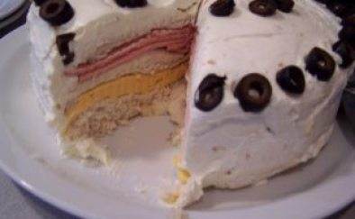 Bologna Cake Appetizer Recipe
