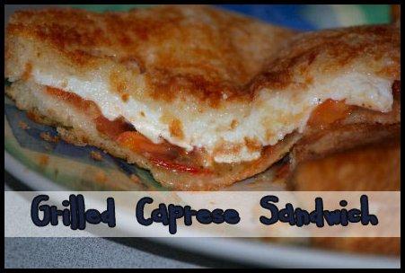Grilled Mozarella Basil Tomato Caprese Sandwich Recipe