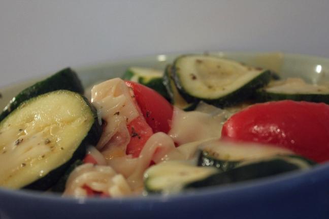 Zucchini Tomato Summer Vegetable Salad