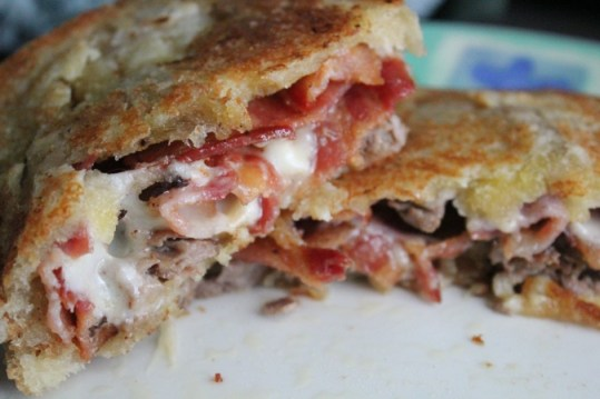 roast beef and bacon grilled sandwich 3