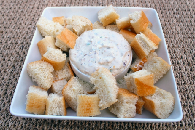 Roasted Garlic Bacon Dip