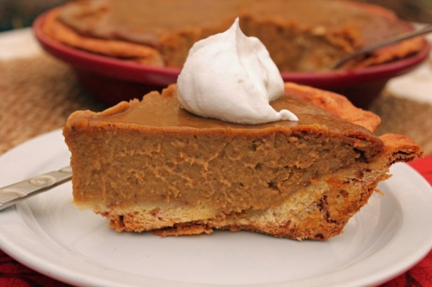 Spiced Pumpkin Pie with a Cinnamon Roll Pie Crust
