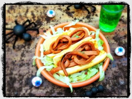Sloppy Worm Sandwiches