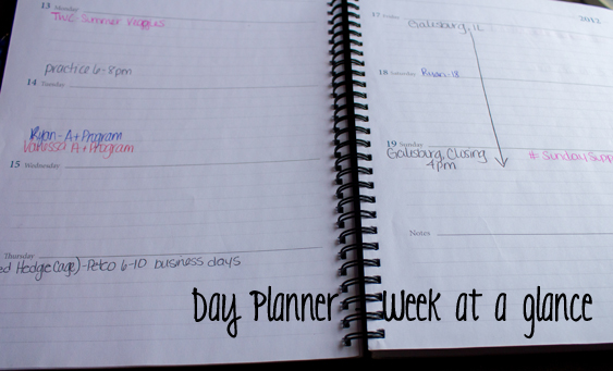 Day Planner - Blog Organization