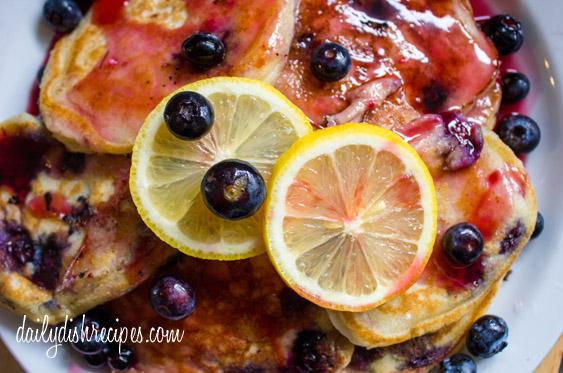 Blueberry Lemon Ricotta Pancakes 2