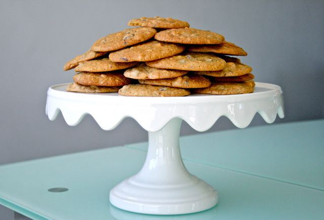 Orange Macadamia Dark Chocolate Cookies