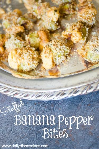 Stuffed Banana Pepper Bites