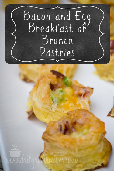 Bacon Egg Breakfast Brunch Pastries