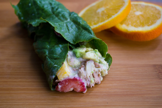 Healthy Lunch - Fruit and Tuna Lettuce Wrap with Ocean Naturals #shop #OceanNaturals #cbias