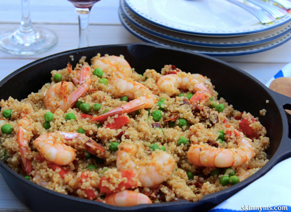 Quinoa-Shrimp-Paella