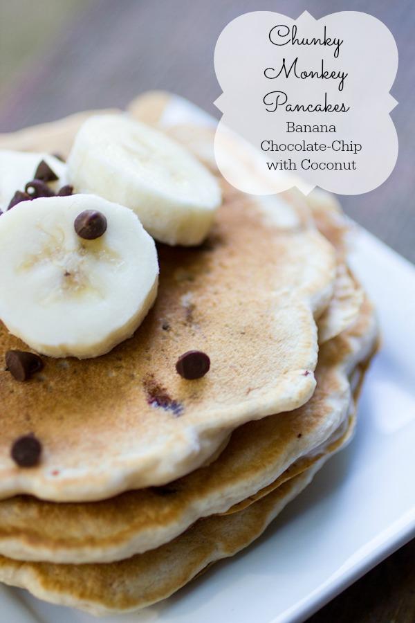 Chunky Monkey Pancakes #secretrecipeclub