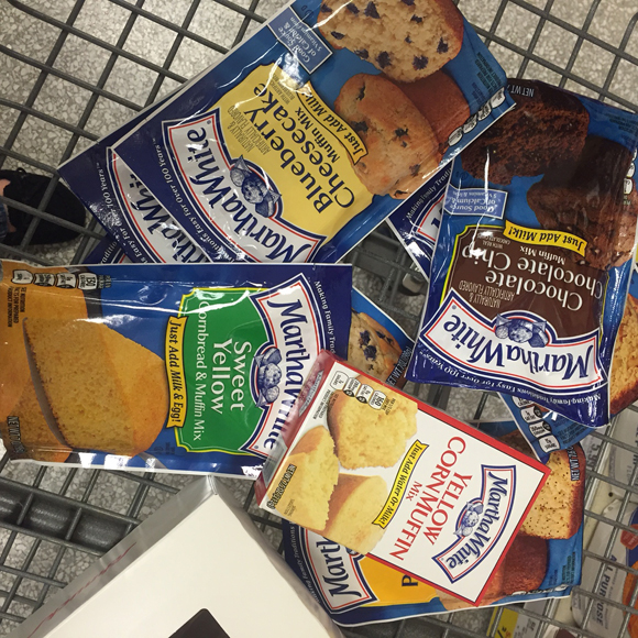 Martha-White-Baking-Mixes-in-Kroger-Cart