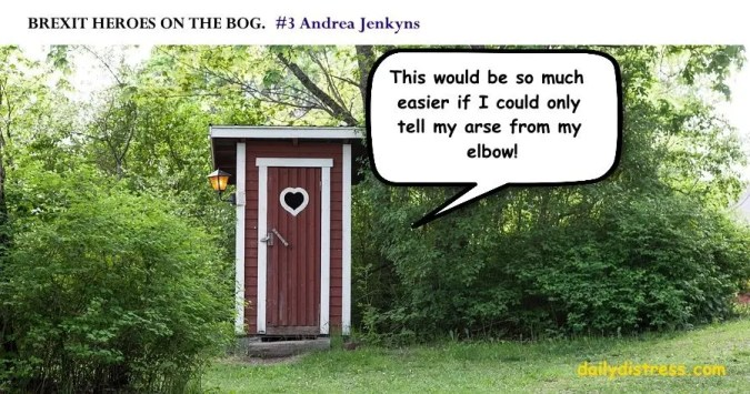 Brexit Heroes on the Bog.  Andrea Jenkyns.  Daily Distress satire