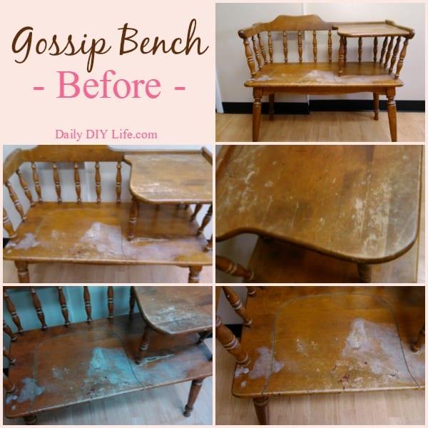 Gossip Bench Make Over A Trash To Treasure Story