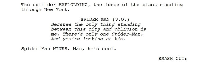 into the spider-verse script free online