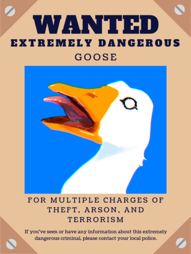 Untitled Goose Game - fan art