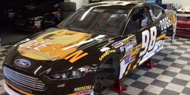 First photos of the NASCAR Dogecoin car have arrived