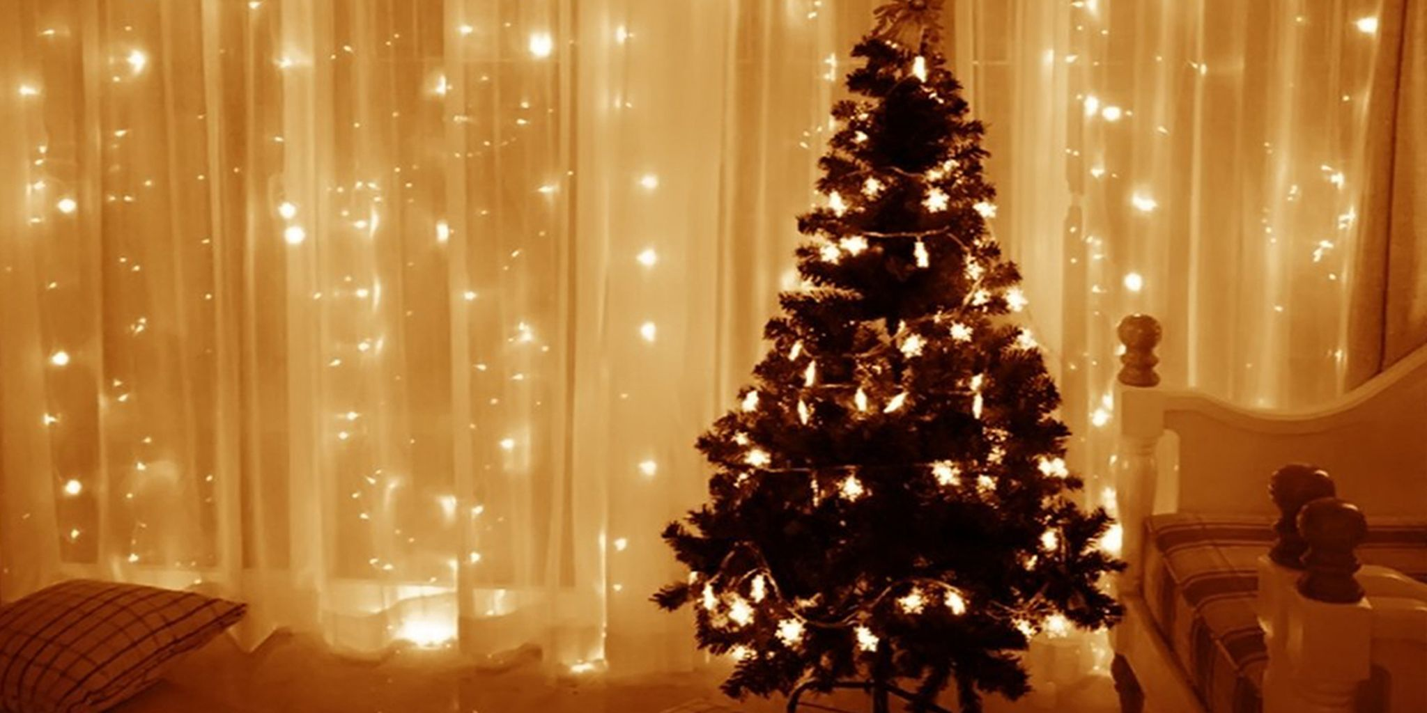 Make A Magical Wall Of Holiday Glow With These 19 Light Curtains The Daily Dot