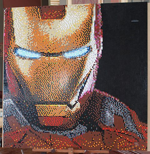 Bricktacular mosaics from Reddit s favorite Lego artist   The Daily Dot Artist Drew Sneddon has brought everyone from Iron Man to Doctor Who to  amazingly detailed life   one Lego brick mosaic at a time