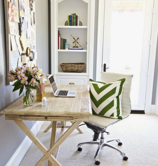 This darling home office retreat is goals Daily Dream Decor