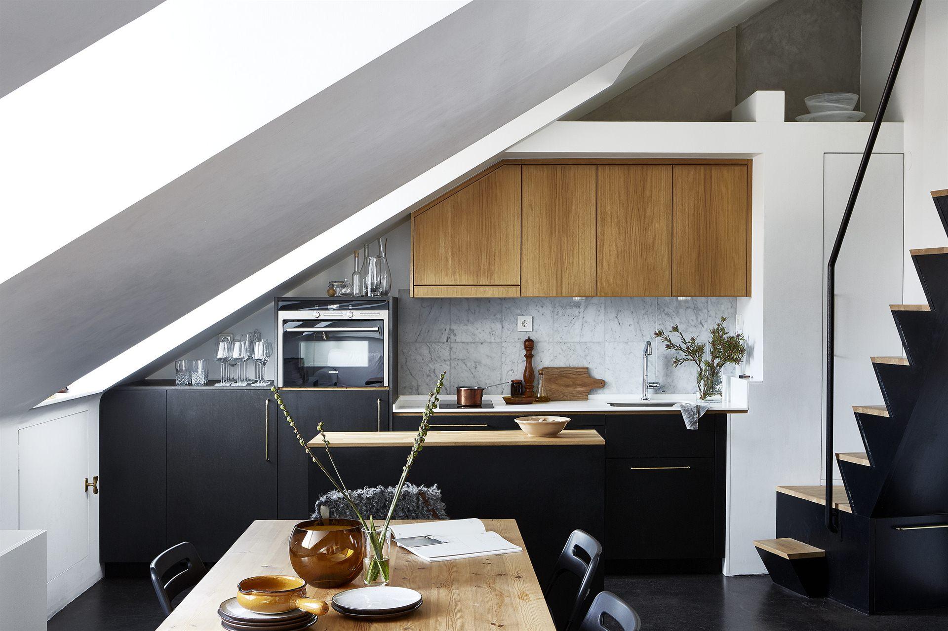 Small Stylish Attic Studio In Stockholm Daily Dream Decor