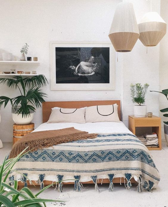 10 Bohemian rooms that will make you wish to relax more ... on Modern Bohemian Bedroom Decor  id=63120