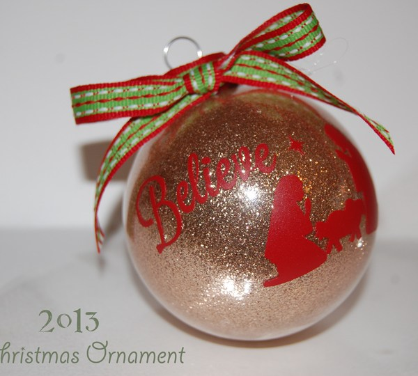 Glittered Christmas Ornaments
