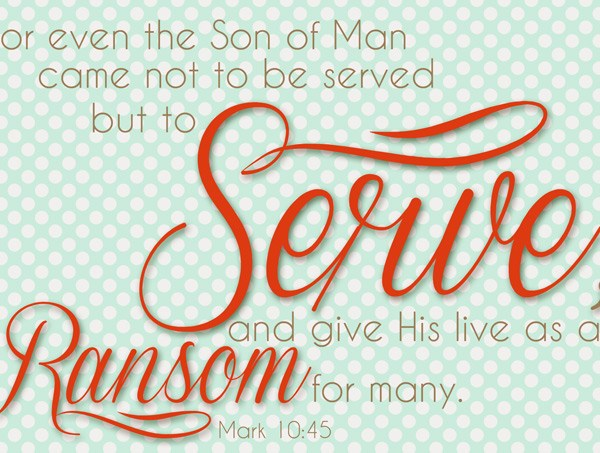Mark 10:45 Printable
