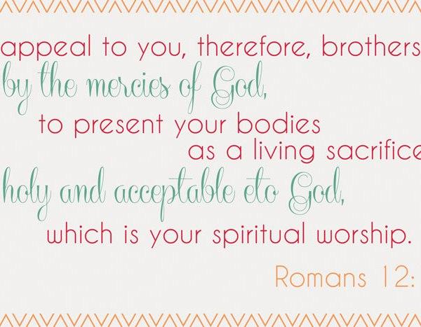 Printable of Romans 12:1
