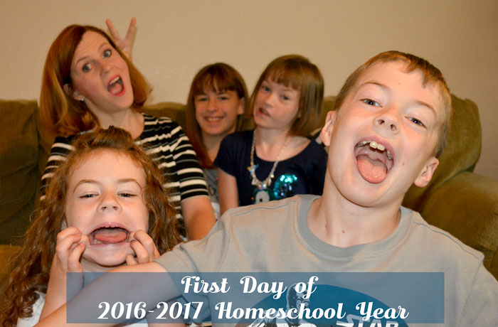 First Day of 2016-2017 Homeschool Year