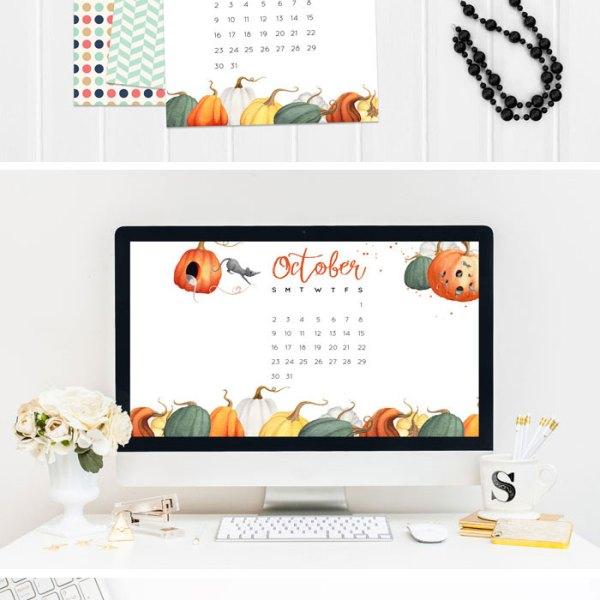 October 2016 Calendar Printables and Tech Pretties