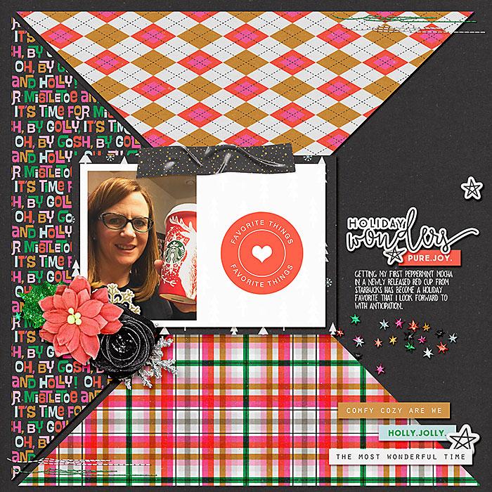 Page Credits: MPM Wonder Mistletoe & Holly Patterns and Backgrounds - Allison Pennington