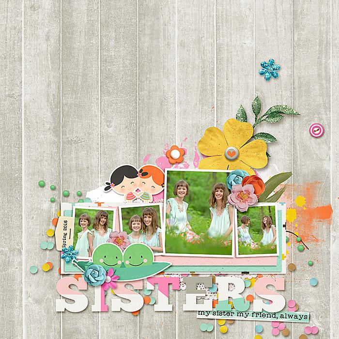 Page Credits: Star of Wonder Dressed Down - Fiddle Dee Dee Designs Sisters Bundle - Pink Reptile Designs & Studio Basic